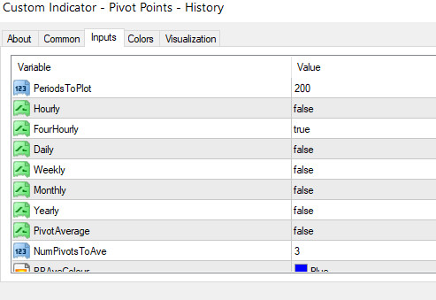 pivots-settings